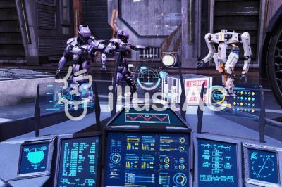 イラストac sf 近未来の壁紙 のフリーダウンロード Daz3d Web Amusement Hyper Activity Land